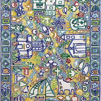 8.Andalucía, Acryl auf Karton, 70x100 cm