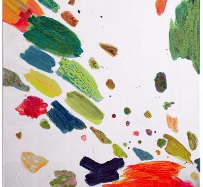 Farbflug,  Acryl auf Lwd XL, 100x100 cm