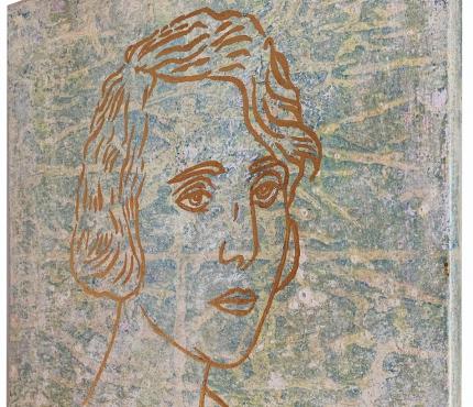 Mutter, Acryl u. Gold a. Lwd, 50x50 cm