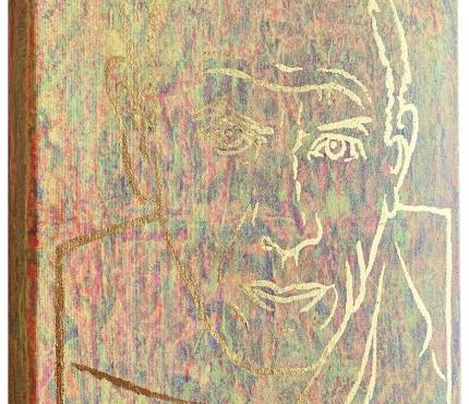Picasso, Acryl u. Gold a. Lwd XL, 30x40 cm