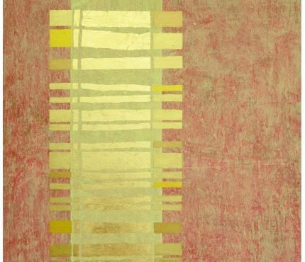 Barcode, Acryl und Gold a. Lwd, 80x100 cm