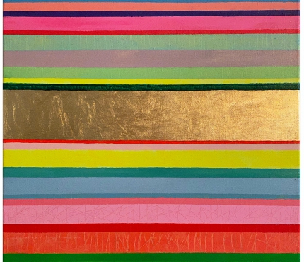 GZ 180911, Acryl u. Gold a. Lwd, 50x50 cm