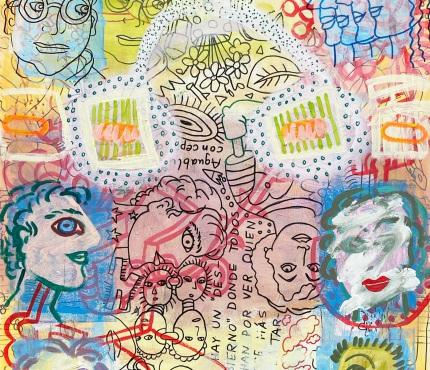 1.289, Acryl und Marker a. Karton, 70x100 cm