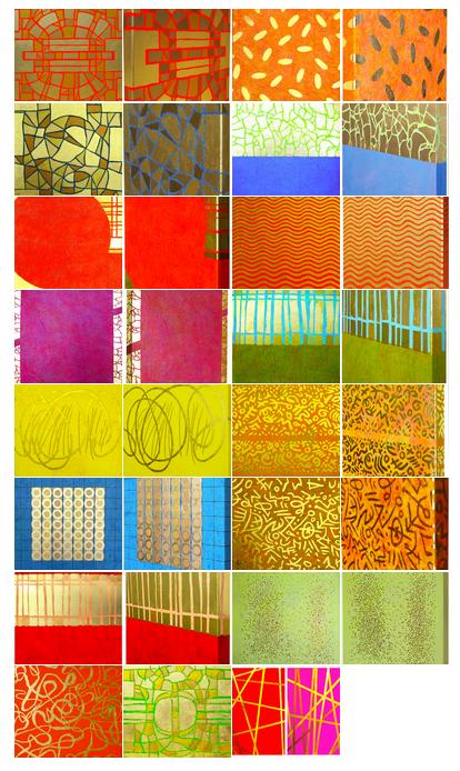 4. Zeichen schaffen – abstrakte Malerei mit Blattgold auf Leinwand